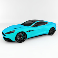 3d model of aston martin vanquish