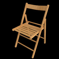 wooden chair easily uv 3d 3ds