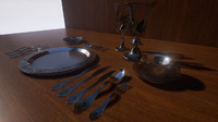 Silverware Set - Renaissance for Unreal Engine
