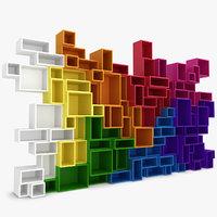 modular shelving 3d model