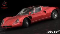 3d alfa romeo 33 stradale model