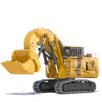 3d mining excavator 6090