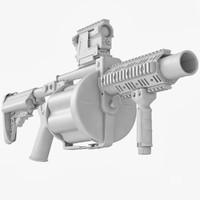 3d milkor mgl-140 materials model