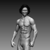 free 3ds mode zbrush muscular guy