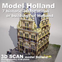 3d model buildings holland