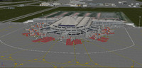 3d model antalya airport international