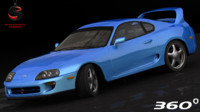 toyota supra rz 1998 3d model