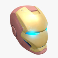 obj iron man helmet