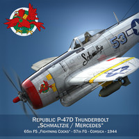 3d republic p-47 thunderbolt - model