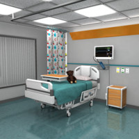 3d children s hospital room model