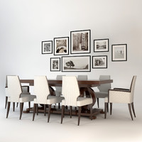 dining set table selva 3d model