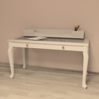 3d model girls writing desk