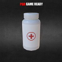 health medicine bottle pbr 3d model