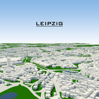 3d max leipzig cityscape