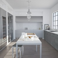 3ds max kitchen scene