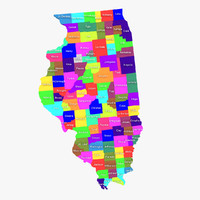 illinois counties 3d model