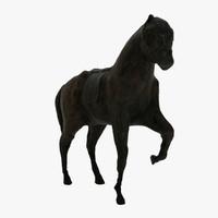 c4d horse scanned sculpture