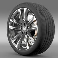 3d model nissan fuga hybrid wheel