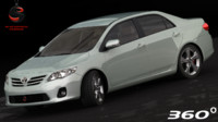 3ds max toyota corolla sedan 2010
