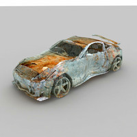 wrecked car 3d model