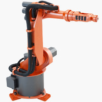 3d model industrial robotic kuka kr