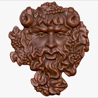 3d model bas-relief god wine bacchus