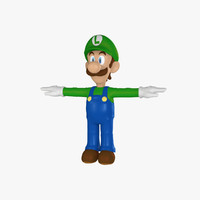 3d 3ds luigi rigged cartoon character