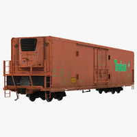 3d model railroad refrigerator car