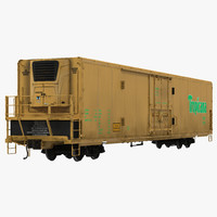 maya railroad refrigerator car yellow