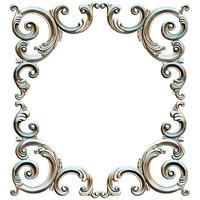 Angular decor. Decor frame