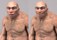 neanderthal realistic 3d max