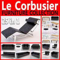 le corbusier furniture pack 3d model