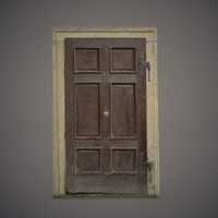 3d 3ds old wooden door