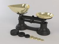 3d vintage medical scale model