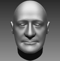 free zbrush human head 3d model