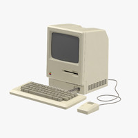 apple macintosh 128k 3d model