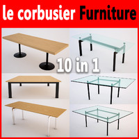 3d le corbusier table pack
