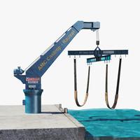 boat crane 3d model
