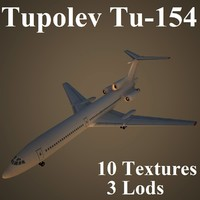 tupolev airlines air 3d max