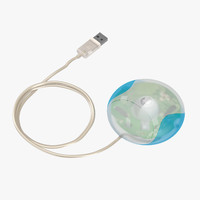 3d model apple usb mouse m4848