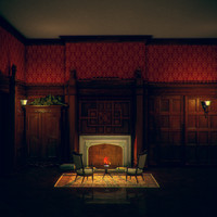 free scene mansion room 3d model