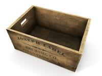 wooden beer crate 3d model