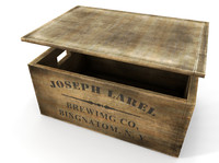 3d wooden beer crate model