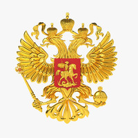 national emblem russia 3d max