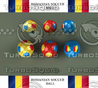 3d model new soccer romanian ball