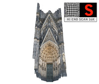 3d gothic architecture cathedral scanned model
