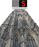 3d model of gothic architecture cathedral scanned