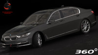 bmw 750i xdrive sedan 3d obj