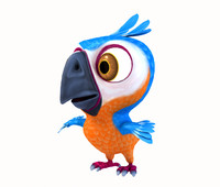 lwo cartoon parot bird