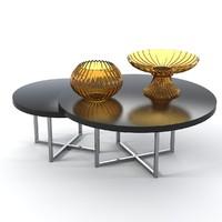 3d model fendi table set